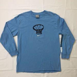 90s Vintage NIKE Basketball Swoosh Long Sleeve Tee